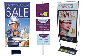 Retail Sign stands