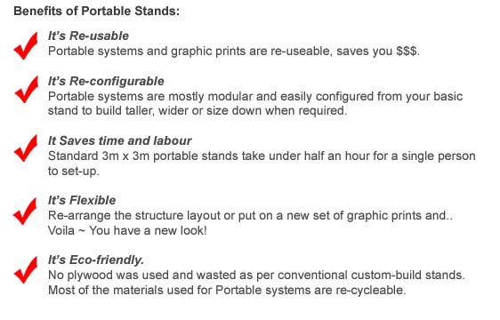 Benefits of Portable Stands