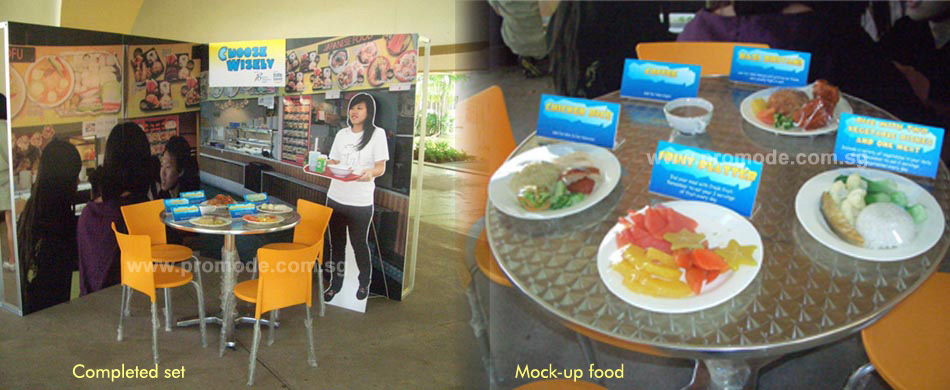 Health Promotion Board portable road show kits and food models